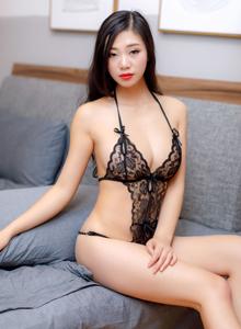 宋-KiKi半透明蕾丝内衣性感美女尤物私房写真套图