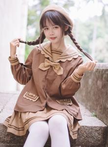 小清新校花美女曲奇饼JK制服萝莉控白丝写真图片