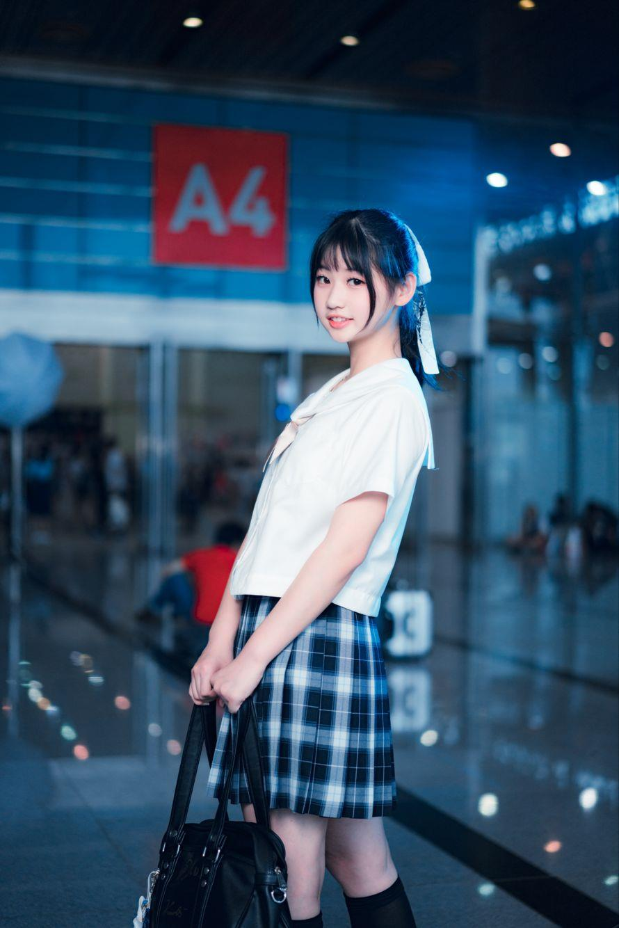 日系高校清纯校花双马尾美女JK制服唯美写真图片