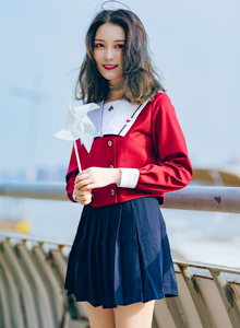 海风少女小清新校花美女气质养颜JK制服写真图片