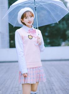 冬日可爱萌系小清新美女制服小短裙唯美摄影写真