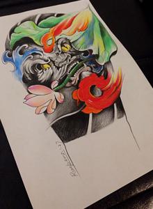 个性涂鸦式纹身手稿原创图片 男生纹身图案手稿