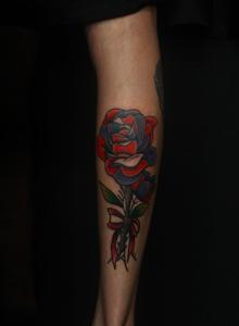 玫瑰花纹身图案手稿  玫瑰纹身图案女图片