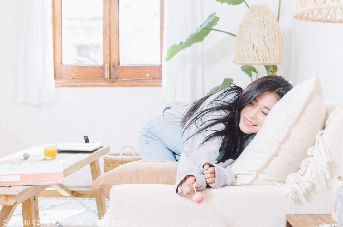 秀人网许诺Sabrina清纯初恋女友系列小清新气质美拍写真