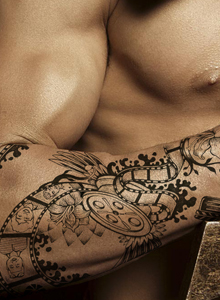 男生手臂炫酷纹身图片 手臂纹身手稿效果图