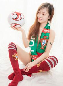 世界杯葡萄牙足球宝贝龙泽美曦嫩模大尺度私房诱惑写真