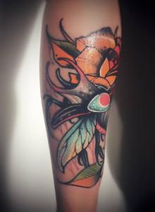 时尚新款女生花臂纹身艺术图片