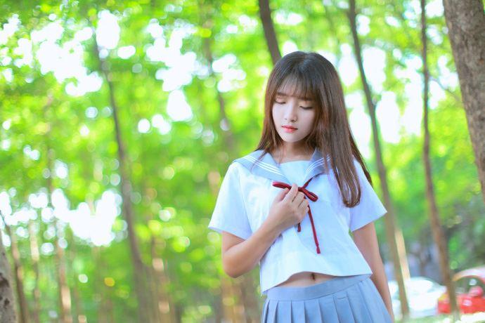 日系学生装校花美女JK制服唯美小清新摄影写真图片