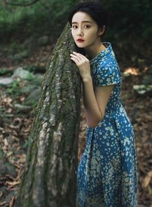 大学校花美女模特余籽璇森林系小清新写真图片