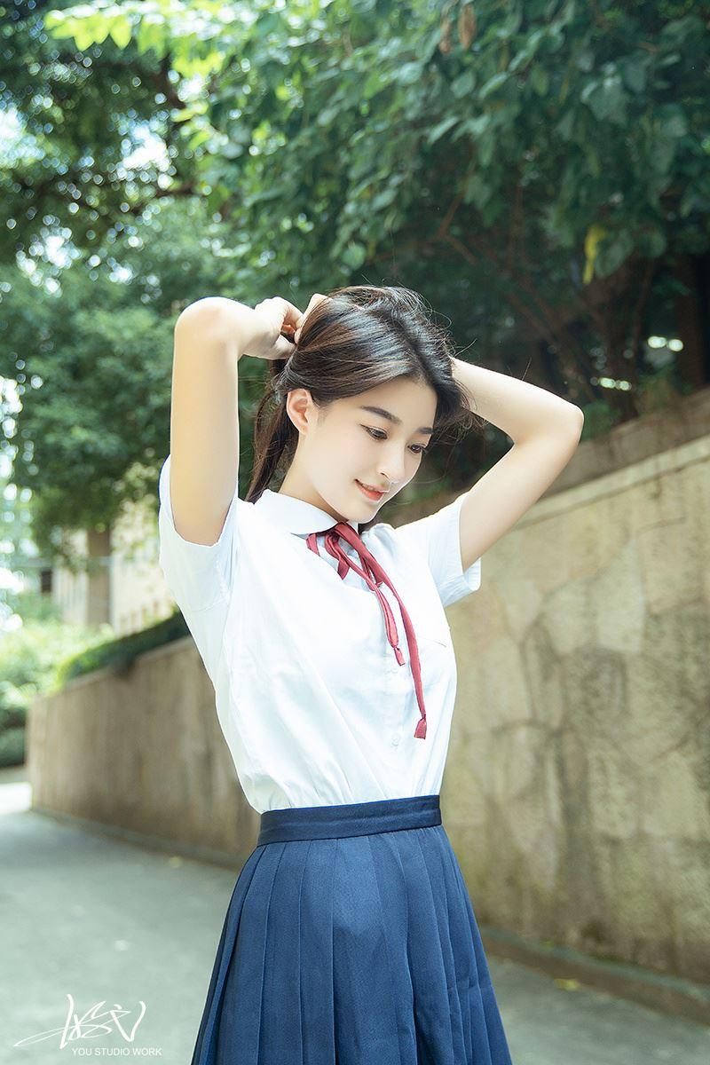 开学季校花美女日系小清新JK制服治愈系写真图片