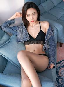 性感美女主播徐子睿牛仔衣身材火辣修长美腿写真套图