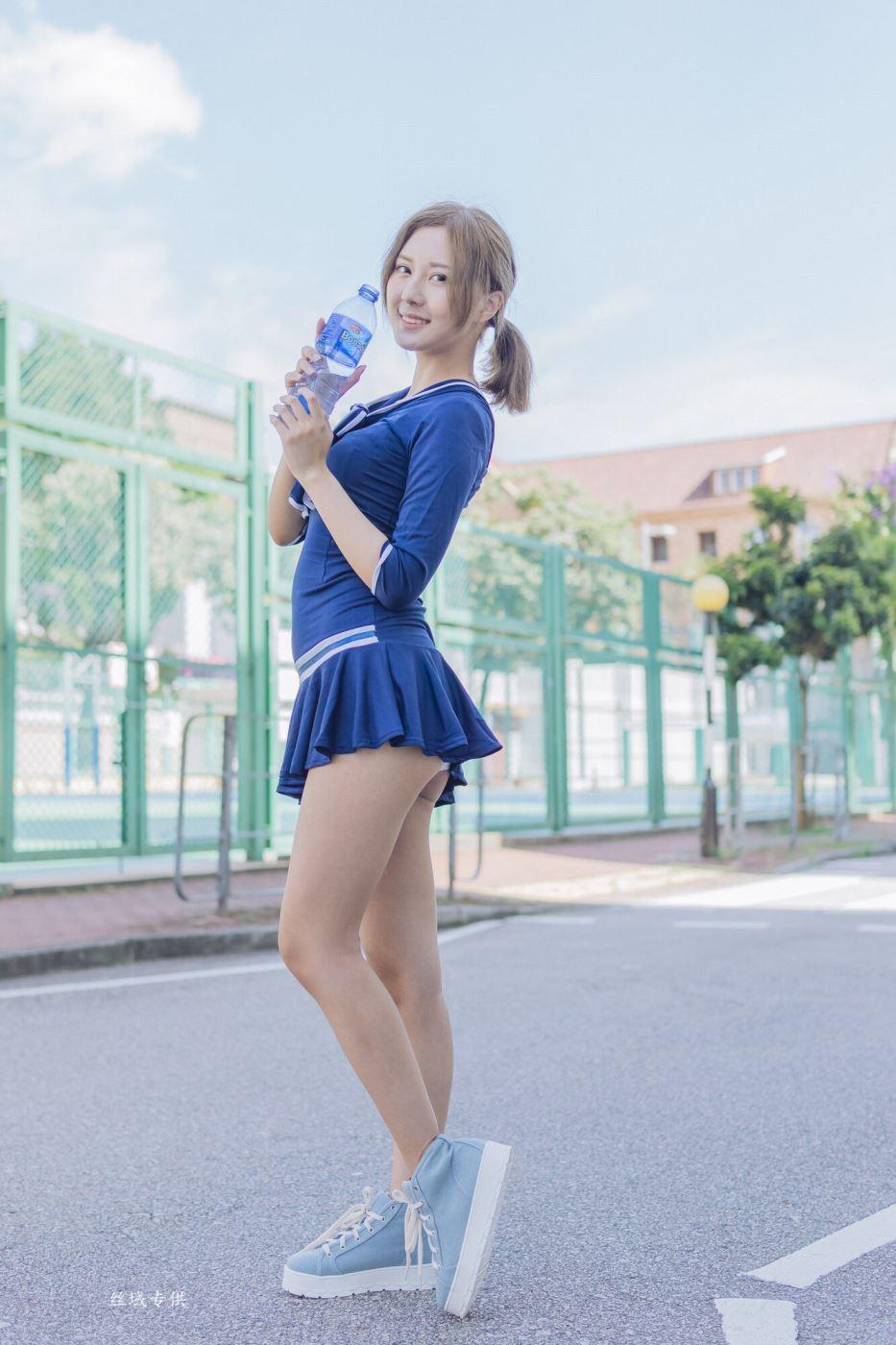 台湾女神清纯校花美女陈郁晴校服小清新唯美写真套图