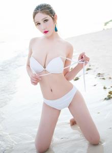 魅妍社丰满巨乳嫩模于姬Una性感比基尼美女沙滩写真