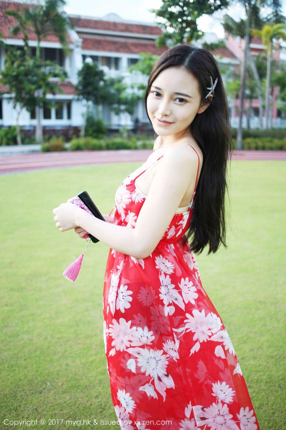 美媛馆美女模特唐琪儿波西米亚风长裙小清新写真图片