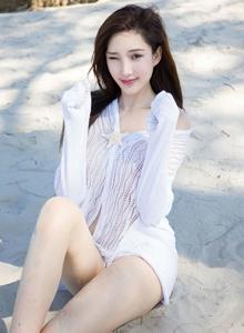 人气模特奶瓶土肥圆周妍希性感美女丰满巨乳诱人沙滩写真