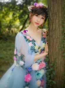 传说森林里的蝴蝶仙女下凡美轮美奂小清新摄影写真