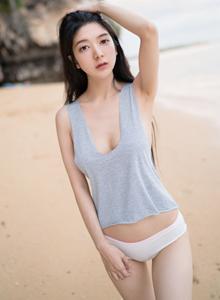 魅妍社性感美女小热巴蕾丝内衣诱惑美胸诱人写真套图