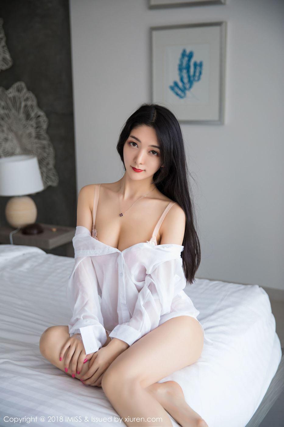 爱蜜社极品美女小热巴透明白衬衫内衣诱惑私房写真图片