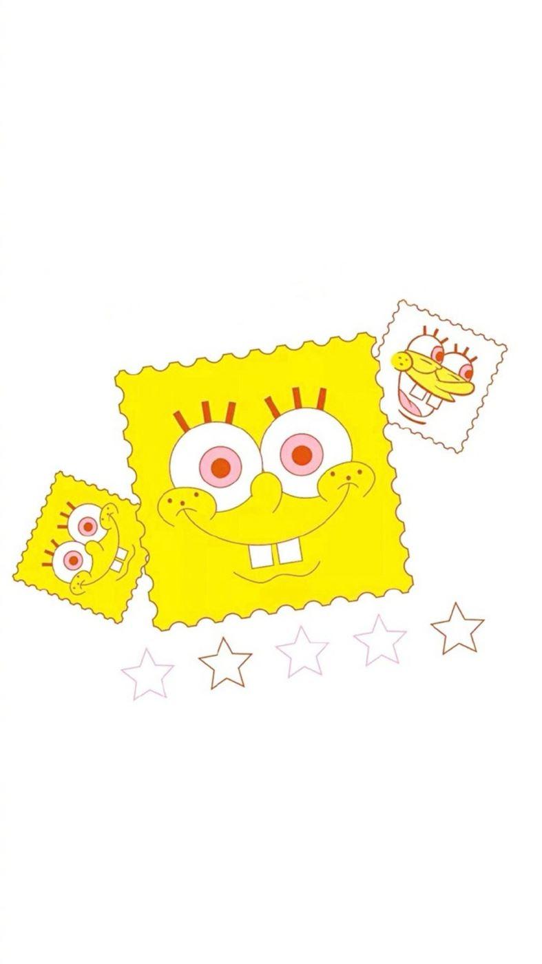 可爱海绵宝宝卡通图片壁纸 海绵宝宝手机背景图片