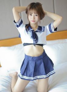 清纯美女模特itt尼卡JK制服学生装甜美少女私房写真照