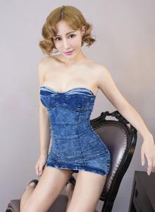 尤果网短发美女模特叶籽亿Akio蕾丝薄纱内衣诱惑私房照