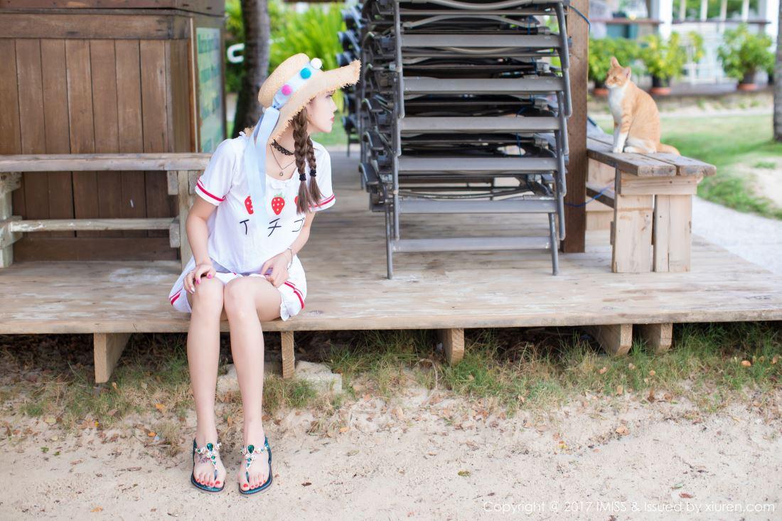 甜美可爱萌妹子杨晨晨sugar沙滩风小清新美女图片