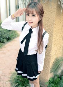 小清新萝莉学生妹小九Vin校花制服美女唯美写真图片