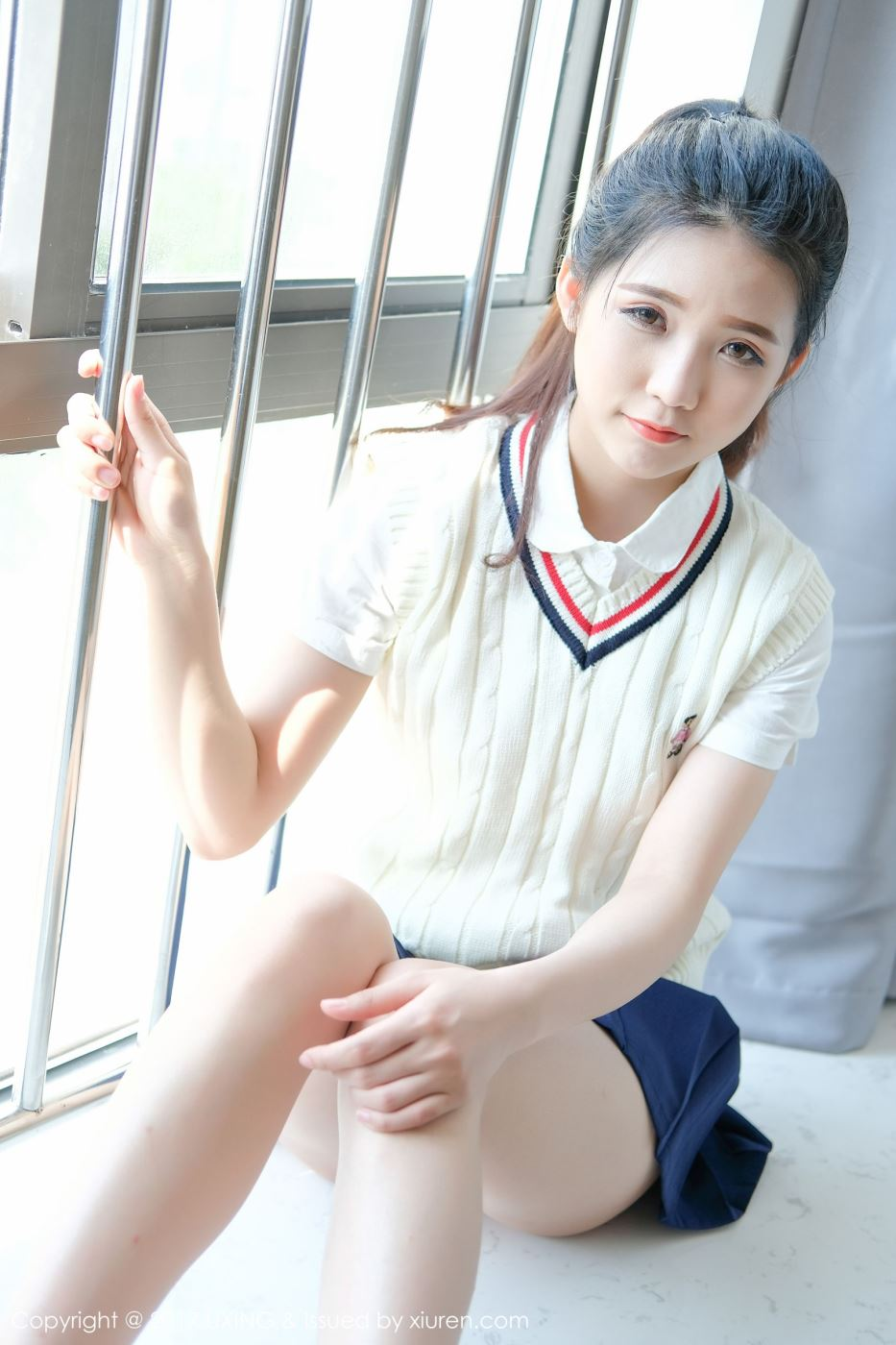 校服小美女_清纯学生妹可爱的小叶子校服美女超短裙小仙女图片(4)-清纯
