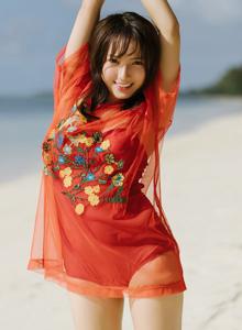 波萝社甜心小萝莉范惠雅海滩风小清新妹子写真照