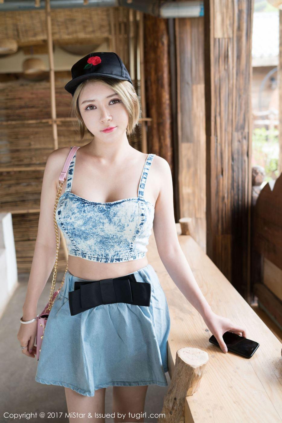 小清新萌妹子凯竹BuiBui短发美女性感时尚写真图片