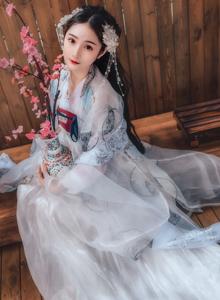 古风美女摄影汉服小仙女天使容颜唯美写真图片