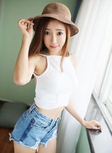 小清新女神草帽少女王馨瑤氣質優雅美媛館模特寫真套圖