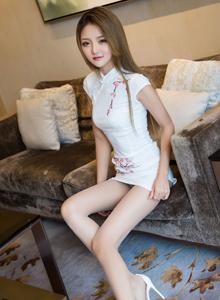 秀人网肉丝女神Miko酱旗袍美女系列修长美腿丝袜诱惑写真
