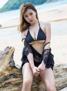 BoLoLi波萝社刘娅希性感比基尼美女傲人巨乳沙滩写真图片