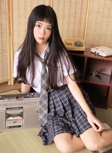 超短裙JK制服校园美女学生妹小清新唯美写真图片