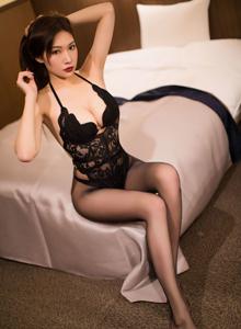 爱蜜社小狐狸Sica黑丝美腿蕾丝内衣诱惑私房照片