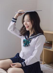 校园JK制服可爱小仙女养眼美女清纯私房写真图片