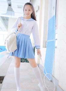 迷你超短裙日系学生装小萝莉可爱甜美写真图片