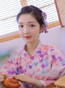 日本美少女萝莉樱花和服卡哇伊小姐姐图片