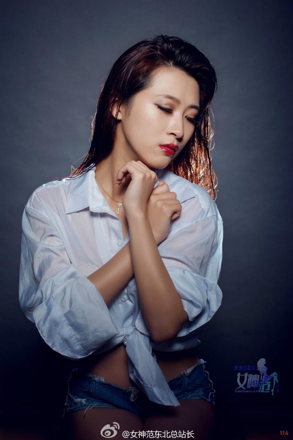 气质时尚女神高清衬衫性感美女图片大全
