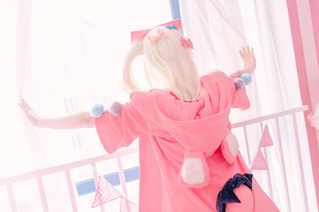 网游龙之谷睡衣学者Cosplay可爱萝莉萌妹子图片