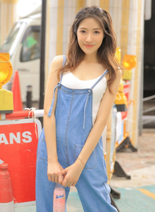 气质长发网红小仙女商业街拍高清清纯美女图片