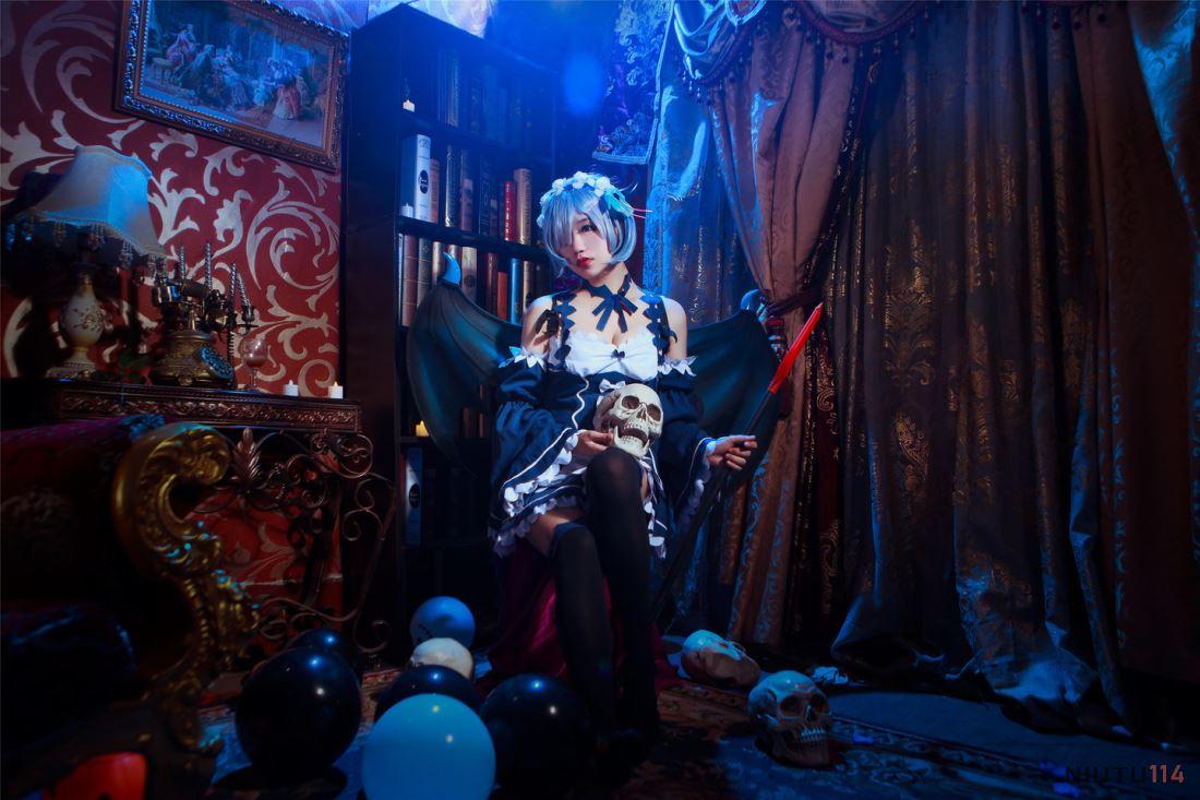 Re:从零开始的异世界生活蕾姆女仆Cosplay同人图片