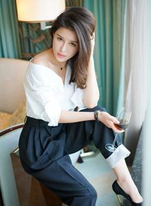 猫萌榜御姐控叶佳颐性感白衬衫美女高清私房写真图片