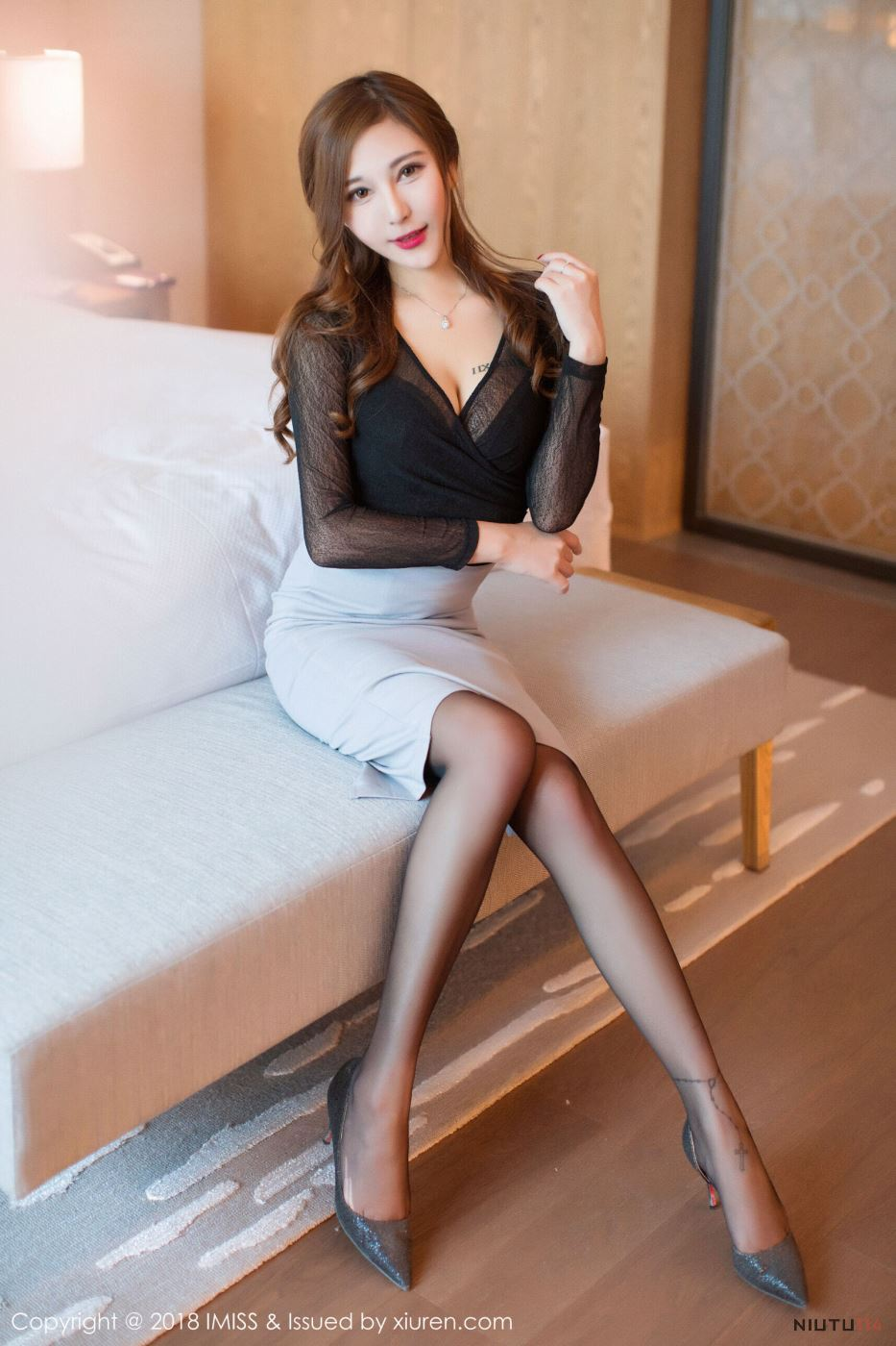 丝袜美腿控福利来了 制服美女爱蜜社Cccil无圣光套图