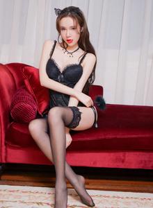 猫萌榜性感女神萌琪琪Irene黑丝修长的美腿诱惑无圣光套图