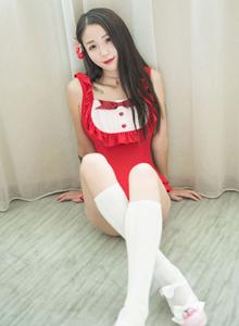 魅妍社模特白沫身材高挑美少女女仆装白丝美腿诱惑写真