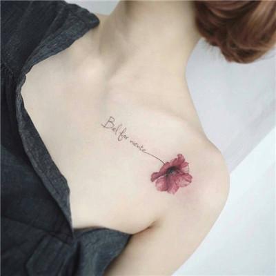 精选个性小清新女生纹身图案分享