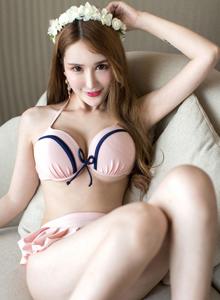 尤蜜荟伍月yuer气质范身材火辣性感无圣光比基尼美女图片