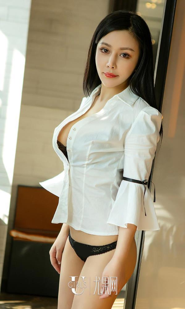 爱尤物沈诺馨白衬衫美女性感蕾丝内衣诱惑私房大尺度美女图片